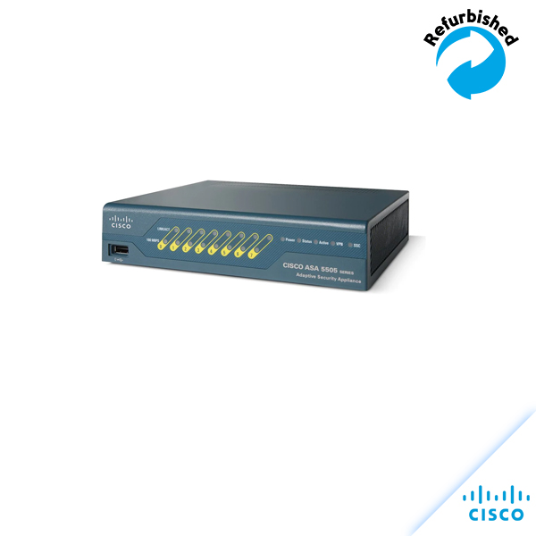 Cisco ASA 5505 Appliance with SW,10Users,8 ports ASA5505-K8