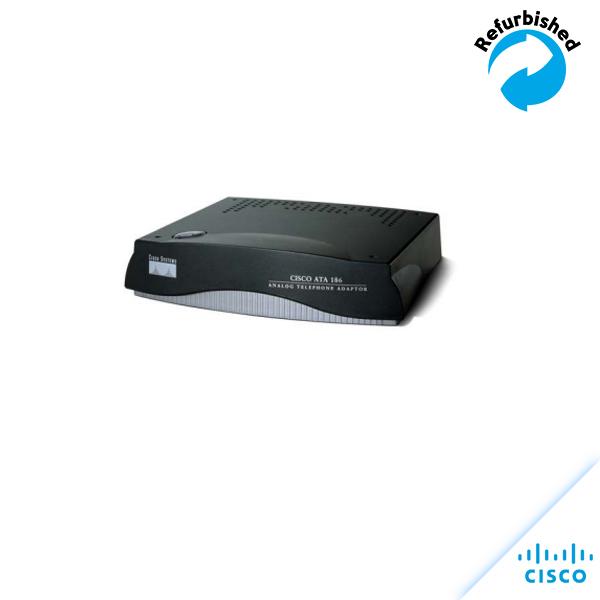 Cisco ATA 186 Analog Telephone Adapter/w Power Supply ATA186-I2-A