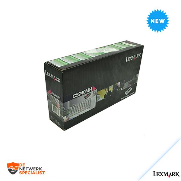 New Lexmark C5240MH toner magenta Sealed = C520/C522/C524/C530/C532/C534