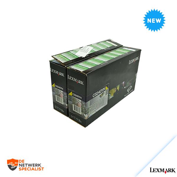 New Lexmark C5240YH toner Yellow Sealed = C520/C522/C524/C530/C532/C534