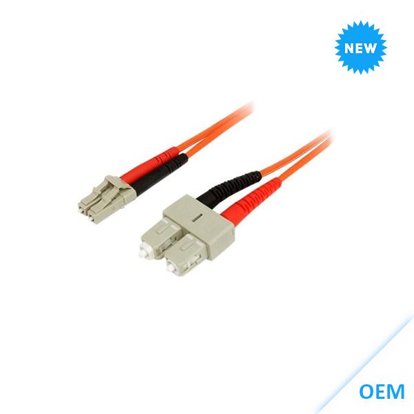 LC-SC 10GbE MM Duplex 2m LSZH Fibre Cable 50/125 OM3-kabels DX-OM3-LCSC-002-ORG