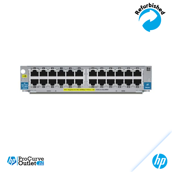 HP 20-port Gig-T PoE+/4-port SFP v2 zl Module J9535A 885631940846
